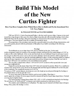 Curtiss Fighter XF13C-1 model airplane plan