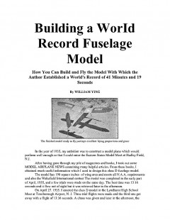 Ying model airplane plan