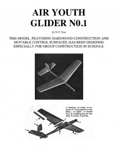AIR YOUTH GLIDER N0.1 model airplane plan