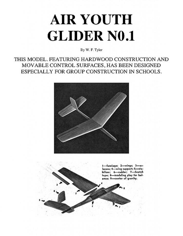 AIR YOUTH GLIDER N0.1 model airplane plan