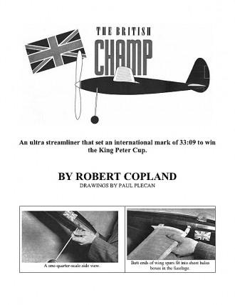 The British Champ model airplane plan