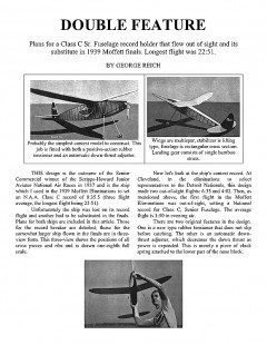 classcsr model airplane plan