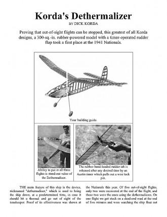 Dethermalizer (Korda) model airplane plan