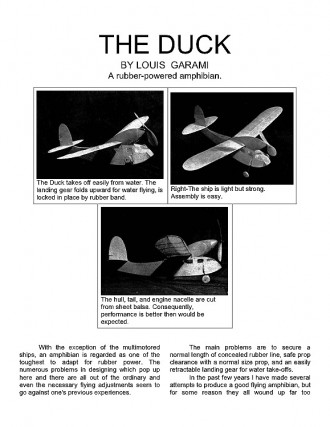 The Duck. model airplane plan