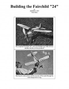 Fairchild 24 Rubber Powered. model airplane plan