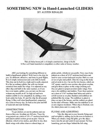 hlg model airplane plan