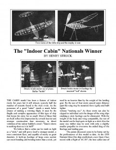 incabin model airplane plan