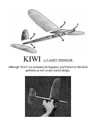 KIWI. model airplane plan