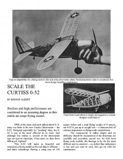 Curtiss 0-52 Scale model airplane plan