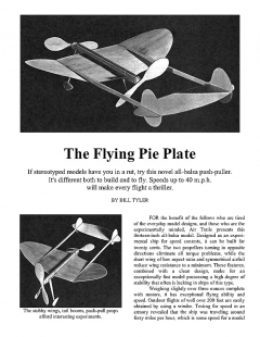 pieplate model airplane plan