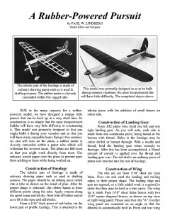 Rubber-Powered Pursuit model airplane plan