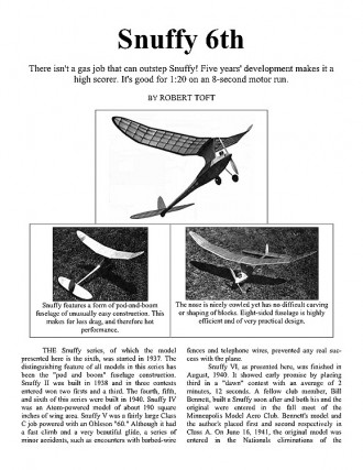snuffy model airplane plan