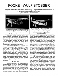 stosser model airplane plan
