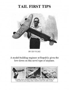 TAIL FIRST TIPS model airplane plan