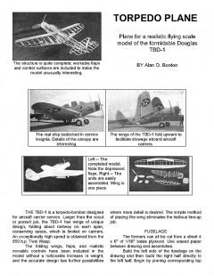 tbd model airplane plan