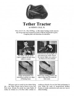 Tether Tractor model airplane plan