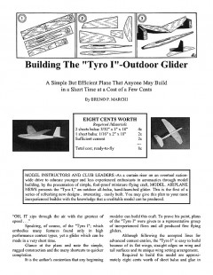 tyro1 model airplane plan