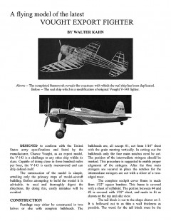 VOUGHT EXPORT FIGHTER v143 model airplane plan