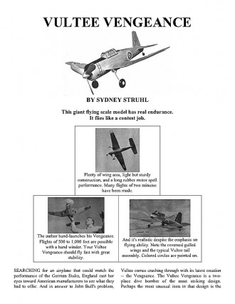 vengence model airplane plan