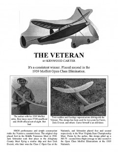 The Veteran (with article) model airplane plan