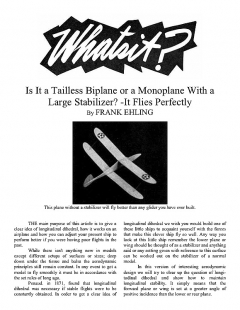 Whatsit? (with article) model airplane plan