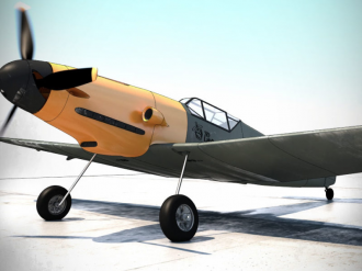 Messerchmitt BF 109 H (ScaledUp) model airplane plan