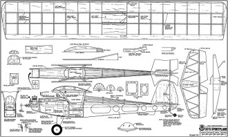 30s sportplane model airplane plan