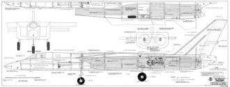 A3J-1 Vigilante model airplane plan