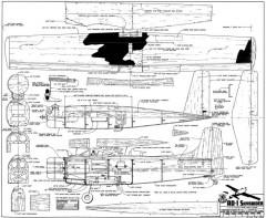 AD-1 Skyraider model airplane plan