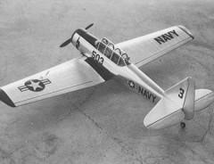AT-6 SNJ model airplane plan