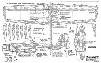 Aero-Duster RCM-1101 model airplane plan