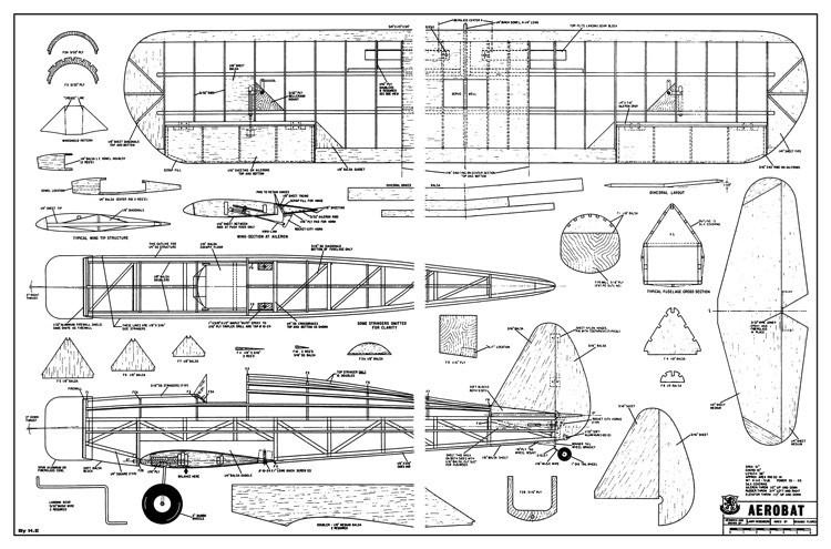 Aerobat RCM-384 model airplane plan