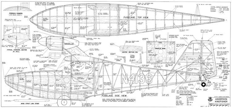 Anderson Kingfisher model airplane plan