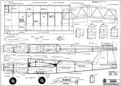 RCM Avenger 58in model airplane plan