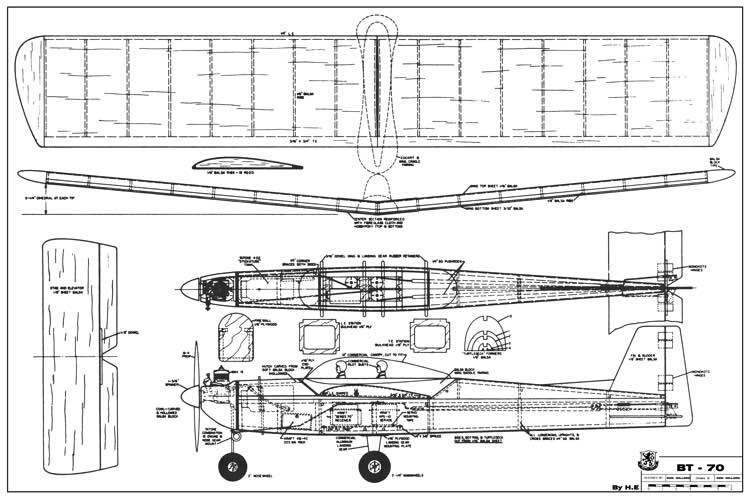 BT-70 model airplane plan