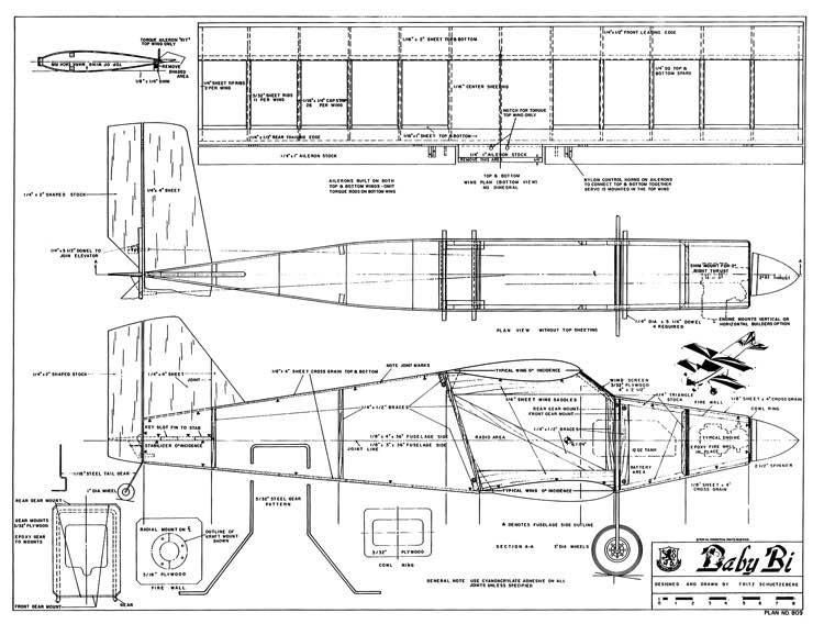 Baby-Bi model airplane plan