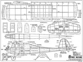 Baby Buzzard model airplane plan