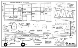 Beatnik model airplane plan