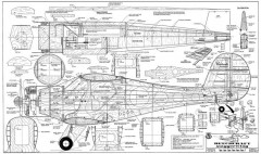 Beechcraft Staggerwing model airplane plan