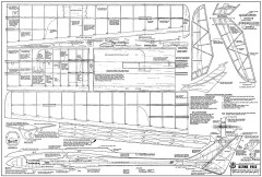 Borne Free RCM-707 model airplane plan