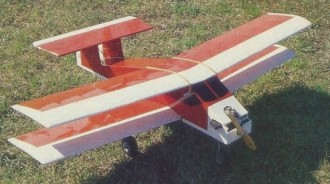 Box Bipe II model airplane plan