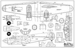 Beechcraft C-45 Expeditor model airplane plan