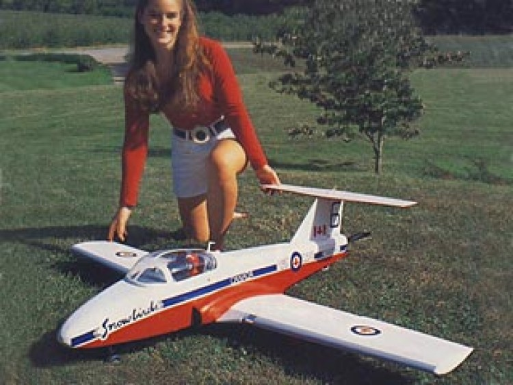 Canadair CT-114 Tutor model airplane plan