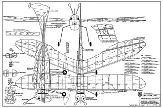 Canadian Bug RCM-1309 model airplane plan