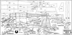 Cardboard Stik model airplane plan