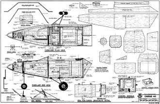 Cargo 40 model airplane plan