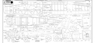 "Cessna 172H - rescaled to 1850mm (72"") span model airplane plan"