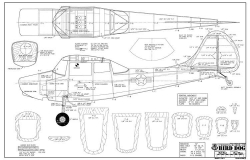 Cessna Bird Dog 72in model airplane plan