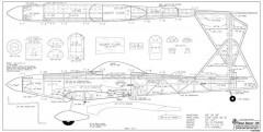 Cloud Dancer 120-RCM-01-96 1206 model airplane plan