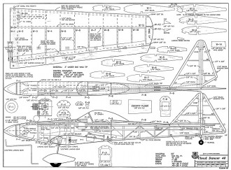 Cloud Dancer 40-RCM-08-95 1197 model airplane plan